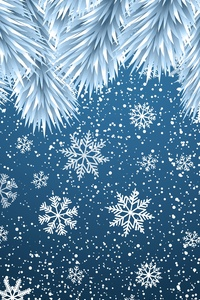 640x960 Christmas Snowflakes Background 8k