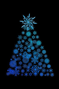 1280x2120 Christmas Tree Digital Art
