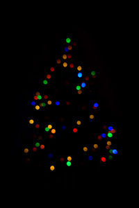 1080x2160 Christmas Tree Minimalism Dark 4k