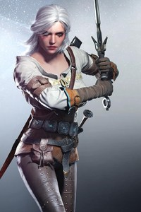 240x400 Ciri In The Witcher 3