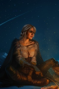 480x800 Ciri The Witcher 3 Wild Hunt 5k
