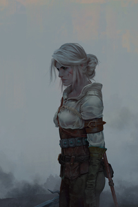 640x1136 Ciri The Witcher 3 Wild Hunt Fantasy Girl
