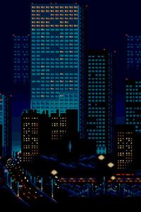 City Buildings Lights 8 Bit · 1080x1920 City Buildings Lights 8 Bit
