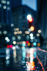 480x854 City Rain Blur Bokeh Effect