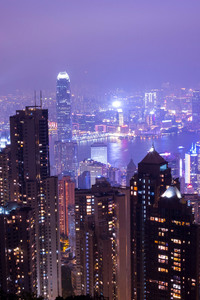 240x320 Citylights Tall Buildings Evening View