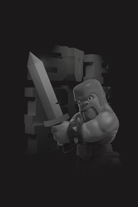 Clash Of Clans Barbarian 4k