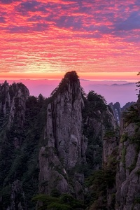 480x854 Cloud Horizon Mountain Nature Sunset
