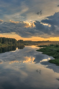 800x1280 Cloud Landscape Nature Reflection River