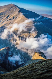 Clouds Mountains Aerial View Nature Scenery