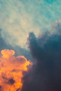 2160x3840 Clouds Orange Dark Sigma Style Sunrsie 5k