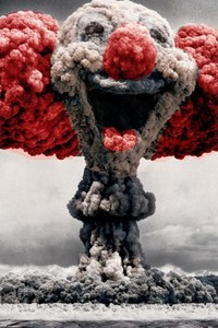 480x800 Clown Mushroom Cloud Art