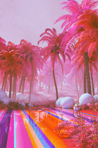 320x480 Colorful Dreamy Park