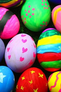 1080x2160 Colorful Easter Eggs
