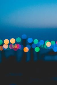 800x1280 Colorful Night Lights Bokeh Effect