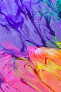 320x480 Colorful Paint Splash Abstract 4k