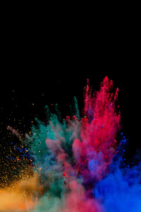 320x568 Colorful Powder Explosion