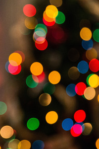 Colors Dots Blurred Background 5k