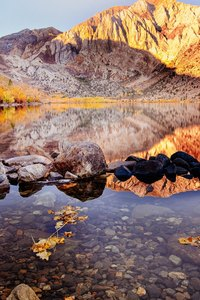 800x1280 Convict Lake Autumn 4k