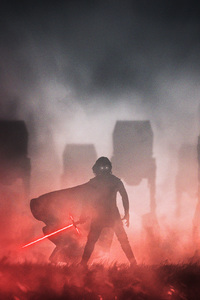 1280x2120 Crait Kylo Ren Star Wars Digital Art