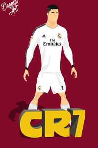 750x1334 Cristiano Ronaldo Vector Illustration 8k
