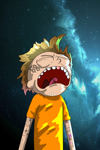 640x960 Crying Morty Digital Art