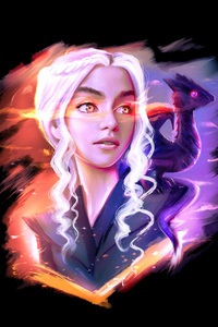 Daenerys Targaryen And Dragon Fan Art
