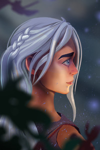 480x800 Daenerys Targaryen With Dragon Art