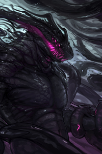 1280x2120 Dark Creature Monster Art 4k