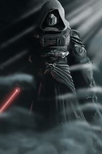 320x480 Darth Revan Star Wars With Lightsaber