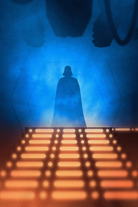 1242x2688 Darth Vader Star Wars Digital Art