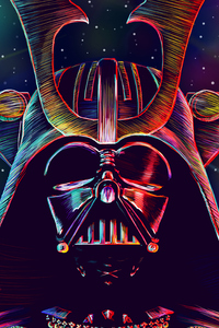 1242x2688 Darth Vader Supervillain 4k
