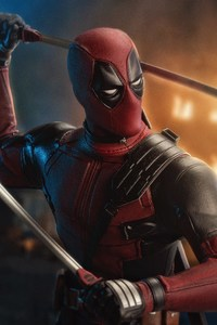 480x854 Deadpool 2 Artwork 5k