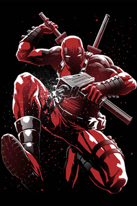 320x480 Deadpool 5K Artwork