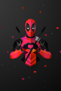 1080x2280 Deadpool Abstract Artwork