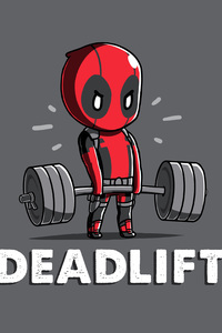320x480 Deadpool Deadlift Funny 8k