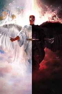 1280x2120 Deadpool Devil And Angel