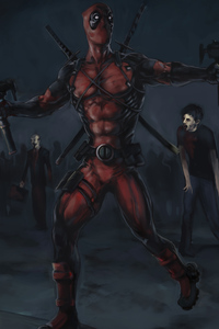 Deadpool Killing Zombies