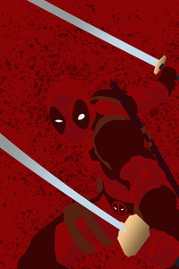640x1136 Deadpool Minimalist Background 4k