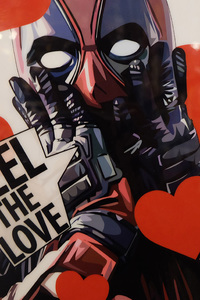1080x2280 Deadpool Valentine Day Poster 4k