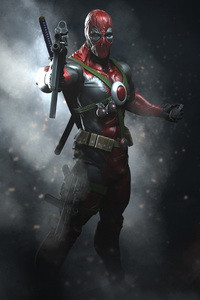 320x568 Deadpool With Guns Digital Art