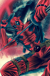 480x854 Deadpool With Sword And Gun