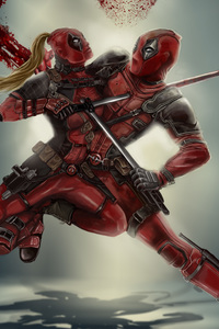 2160x3840 Dedpool Vs Lady Deadpool