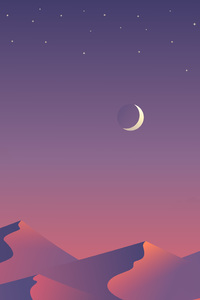240x320 Desert Nights Moon 5k Minimalism