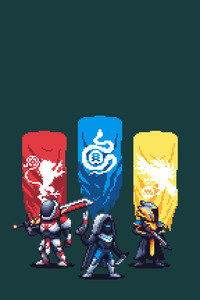Destiny 2 Pixel Artwork 4k