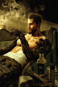 1080x1920 Deus Ex Manking Divided Smoking And Chill 5k