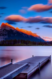 Dock Side Mountains Sky Landscape
