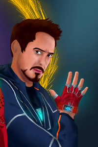 480x800 Doctor Strange And Iron Man In Avengers Infinity War Artwork