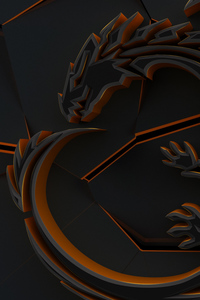 720x1280 Dragon 3d Abstract Cgi Art