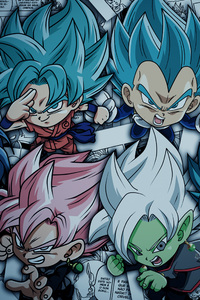 320x480 Dragon Ball Super Saiyan Blue