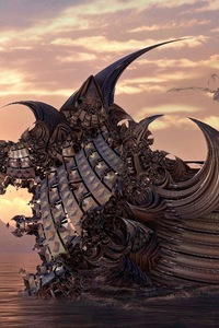 320x480 Dragon Ship